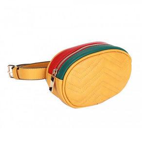 Tigerstars Boho Mustard Quilted Oval Belt Bag